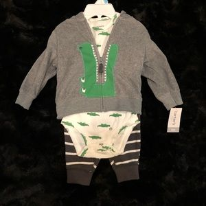 Carter's Baby Boy 6 Month Alligator Outfit